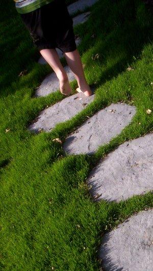 bare-feet-running-summer-stepping-stones-joy