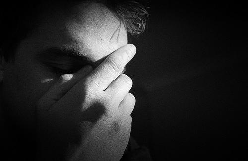 depression-face-hand-sad-despair-help-black-white